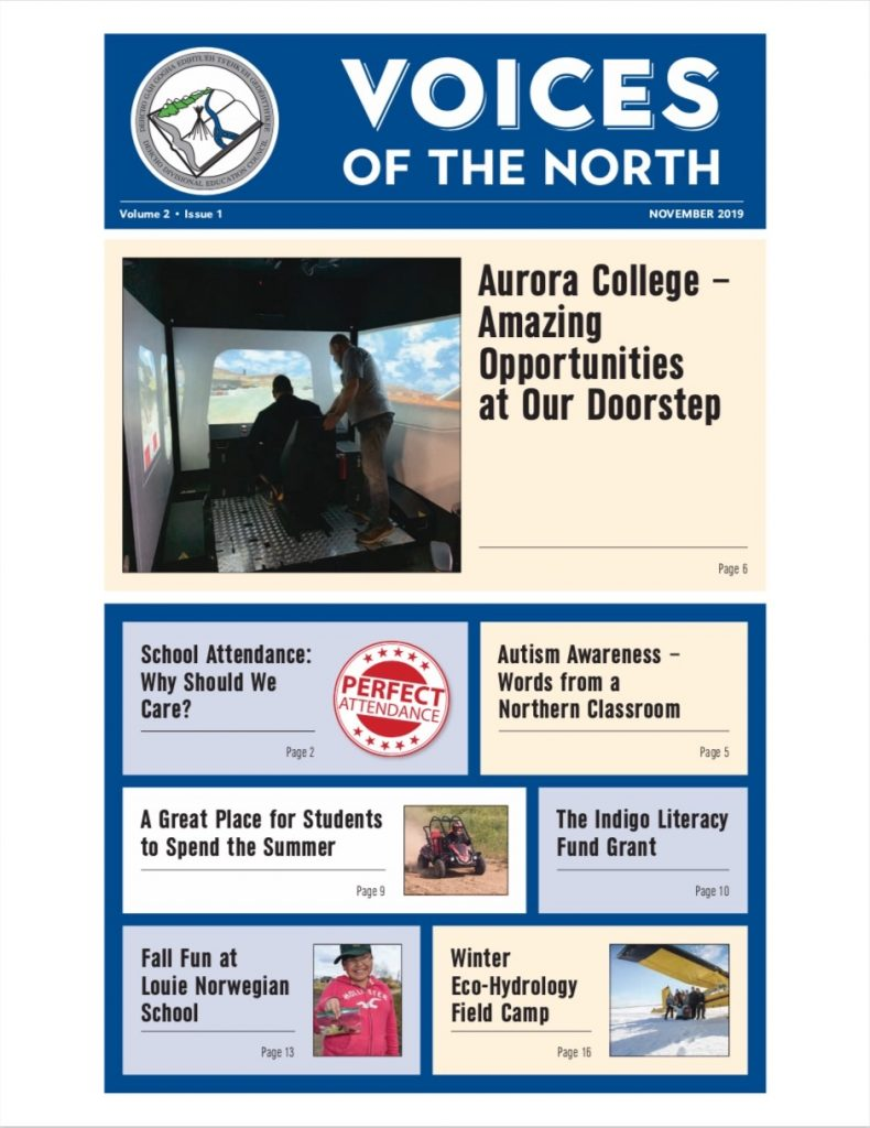 Voice of the North newspaper front cover - volume 2, issue 01, 2019