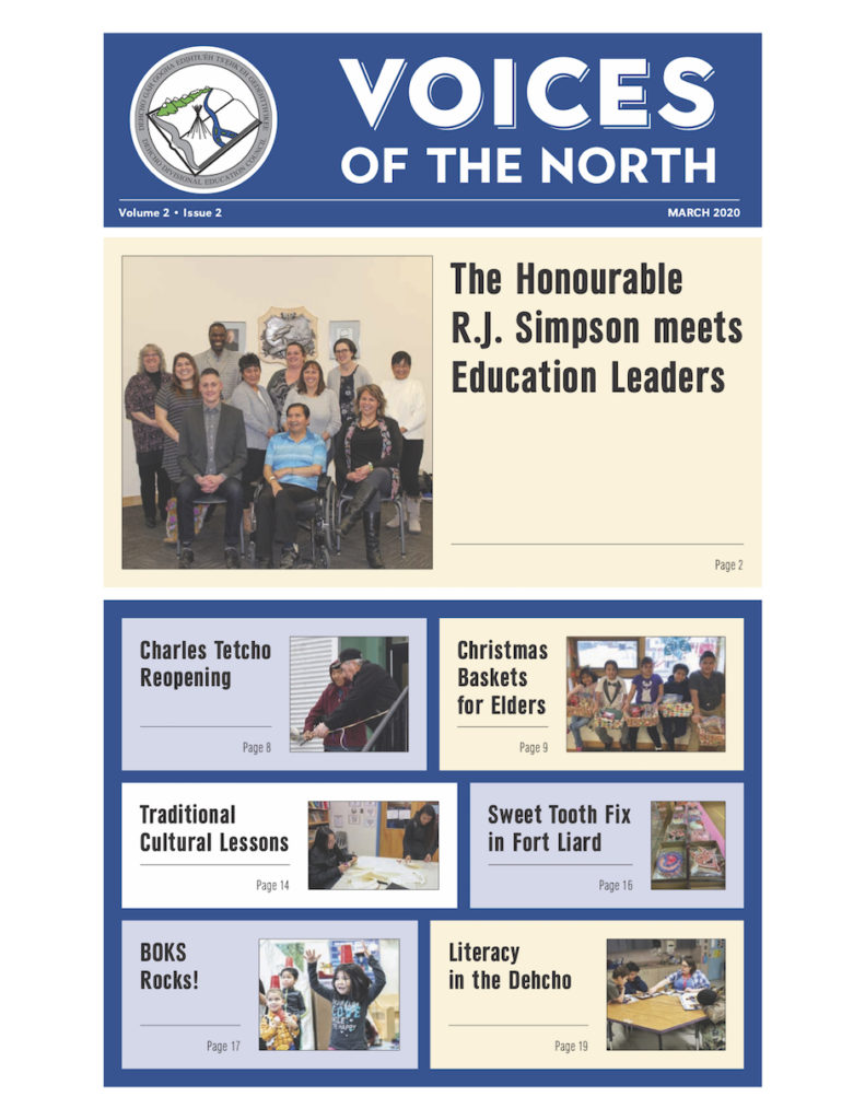 Voice of the North newspaper front cover - 2020 volume 2, issue 02