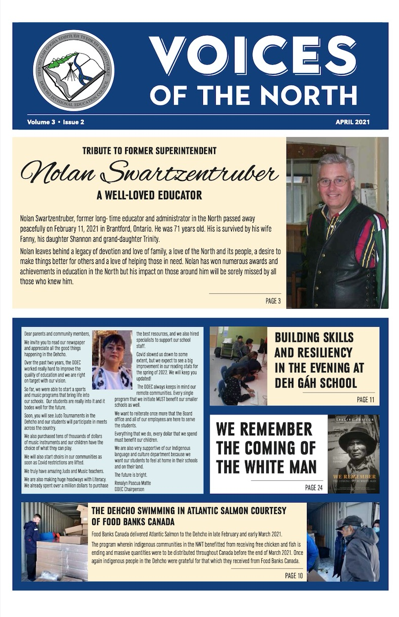 Voice of the North newspaper front cover - 2021 volume 3, issue 02