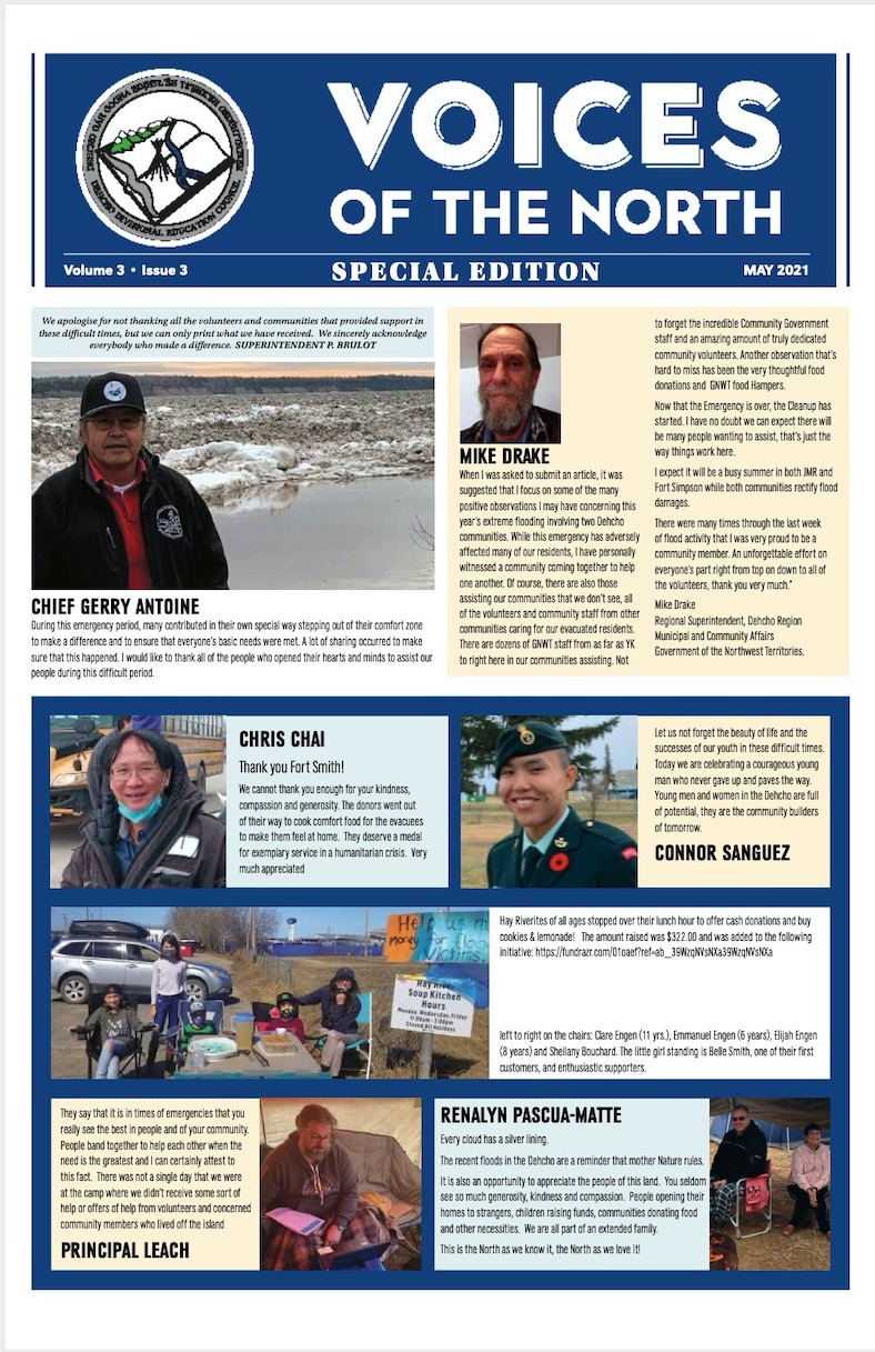 Voice of the North - Special Edition - newspaper front cover - 2021 volume 3, issue 03
